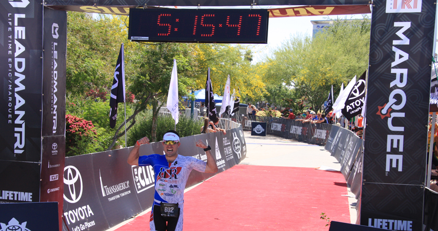 Finishing the LeadMan Triathlon in Tempe, AZ.  Tough race and well earned. http://chiizuruns.blogspot.com