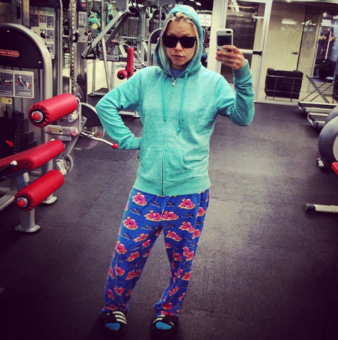 Because fashion is of the utmost importance when workin' it in the gym. http://gigieatscelebrities.com