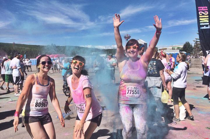 The one race that wasn't about time or pushing myself in 2014. Colour Me Rad in Calgary, last June, was strictly about having fun with some of my friends. #NailedIt http://www.kaellaontherun.com