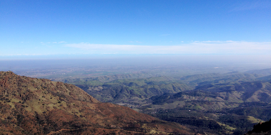 View from Mt. Diablo summit.