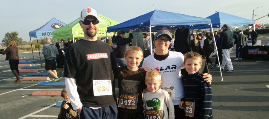 Out of all the amazing running, camping, hiking, and family memories of 2014... I would have to say my FAVORITE 2014 memory is running a local 5K race WITH all my boys!  It was our first family 5K.  My heart was (and is) full. www.runningrachel.com