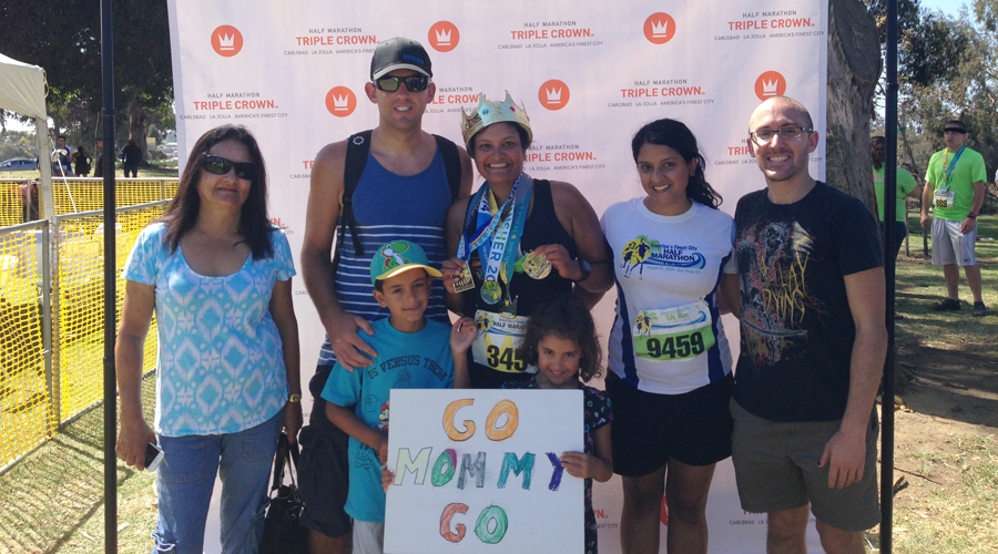 Celebrating a Triple Crown 2014 finish with my whole family! http://www.RunningwithSDMom.com