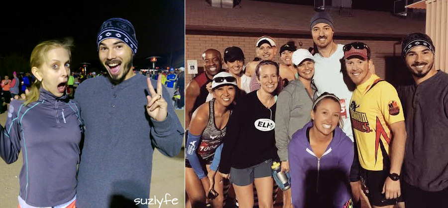 Race pics before the start. (left from @suzy, right from @run)