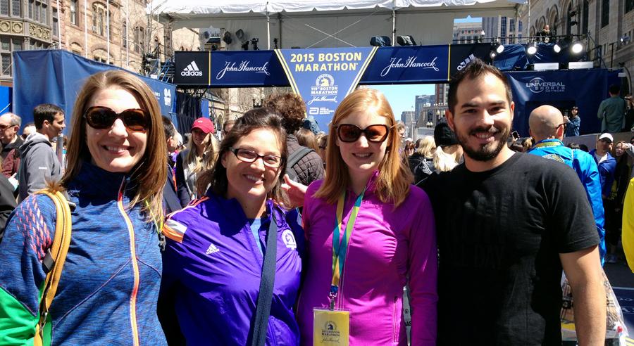 With @HappyFitMama, @RunningRachel, and @mommyrunfaster