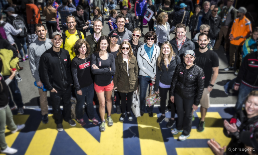 Finish Line photo with the CLIF team. Photo credit: John