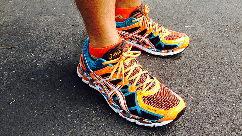 The ASICS Gel-Kayano, my go-to shoe for long runs and all but 1 of my marathons.