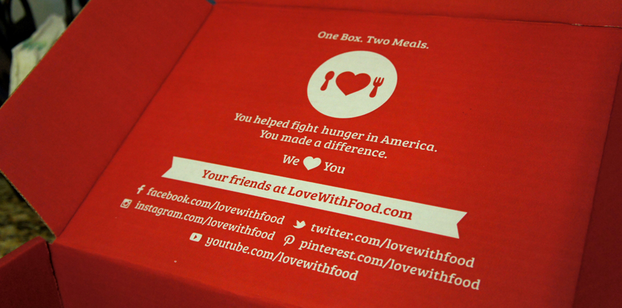 With each box sold, a meal is donated to feed a hungry child.