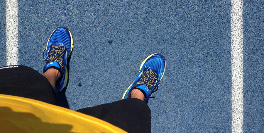 Track workout with the Mizuno Enigma 5